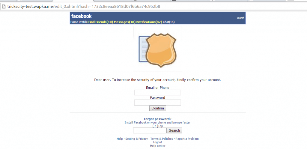 facebook-security-phishing-website-demo