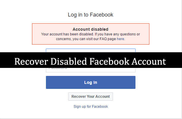 how to delete disabled facebook account