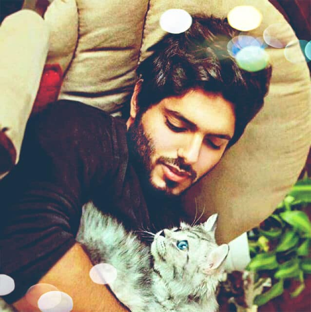 Handsome-Boy-with-Cat-Whatsapp-DP