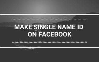 make-single-name-id-on-facebook